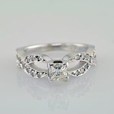 VS1 Engagement Ring 2.24 Carat Princess and Round Shape Diamond GIA Prong Set