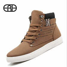 Fashion Autumn Winter Leather Fur Boots For Man Casual High Top Canvas Men Shoes