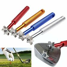 Golf Wedge Iron Groove Club Sharpener Cleaner Regrooving Tool 6 Blade U V Square
