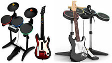 Rock Band Guitar Hero PS3 XBOX Wii PS2 Bundle Lot Drums Guitar Microphone Dongle