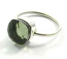 GREEN AMETHYST HYDRO GEMSTONE 925 STERLING SILVER RING JEWELRY SIZE 7 R631