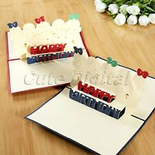 3D Pop Up Kids Happy Birthday Handmade Greeting Card Children's Day Thank You