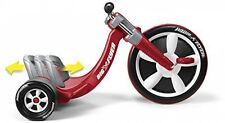 Radio Flyer Kids Tricycle Ride Deluxe Big Wheel Chopper Trike Flyer Toy - Red
