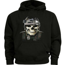 Big and tall sweatshirt for men Army Navy Marines USMC Military skull hoodie