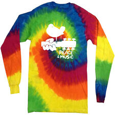 Woodstock tie dye shirt long sleeve tie dyed tee long sleeved tie dyed peace