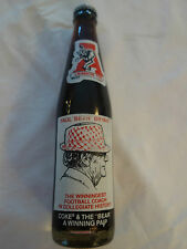 "Paul ""Bear"" Bryant Commemorative Coca Cola Bottle Unopened Alabama Crimson Tide"