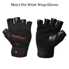 New Harbinger Ventilated Pro Wristwrap Weight Lifting Gloves - Black Style 1140