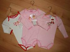 BNWT Baby Girls 18 & 24 Months DISNEY Cotton White or Pink All-In-One L/S Vest