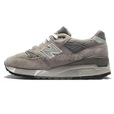 New Balance W998G B Suede Grey White Women Running Shoes Made In USA W998GB