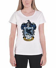 Harry Potter T Shirt House Ravenclaw Official Womens New White Skinny Fit