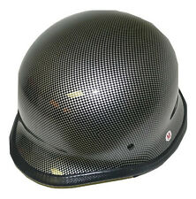 New Dot Approved German Style Black Carbon Fiber Motorcycle Helmet