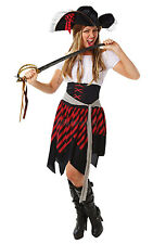 SALE! Adult Sexy Buccaneer Pirate Ladies Fancy Dress Hen Party Costume Outfit