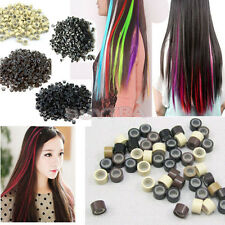 500 Silicone Micro Links Rings Lined Beads for Hair Extensions tool 5 Color QW