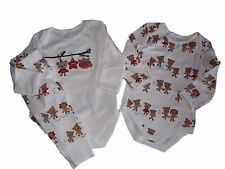 NWT Boy's Girl's Gymboree Christmas Holiday bear shirt pants outfit 0 3 6 months