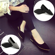 New Womens Casual Pointed Toe Slip On Loafers Boat Shoes Ballet Flats Shoes