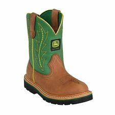Brand New John Deere JD3186 Kid's Green Johnny Popper Wellington Boots