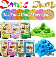 Sonic Sand 500g Moulds & Play Magic Motion Crazy Never Dry Dough Colours Kids