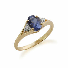 Gemondo 9ct Yellow Gold 0.63ct Iolite & Diamond Ring