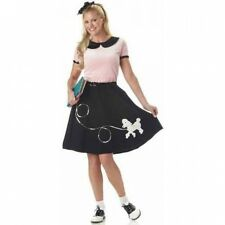 50's Hop With Poodle Skirt Women's Adult Halloween Costume. Free Delivery
