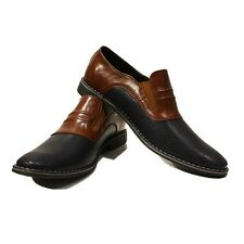 Modello Ivo - Handmade Colorful Italian Leather Oxford Dress Shoes Brown