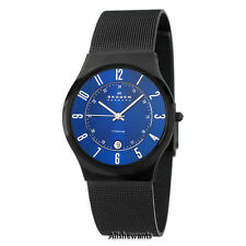 NEW SKAGEN WATCH for Men * Blue Dial * Grenen Mesh * Titanium Case * 233XLTMN