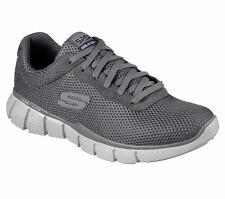 51539 CHAR Charcoal Skechers Shoe New Men Mesh Sport Memory Foam Comfort Sneaker