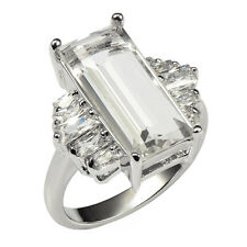 Aquamarine 925 Sterling Silver Ring Simulate Sapphire Cut Gemstone Round#1