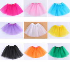 Solid Petti Ballet Knotted Dance Tutu Tulle Skirt Baby Girl Kids Dancewear Xmas