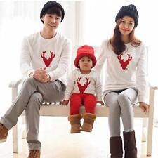 Mother Father Baby Family Tops Long Sleeve Casual Pullover T Shirt Clothes