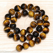 Lots Tiger Eye Ball Shape Gemstone Round Loose Spacer Beads Jewelry Making DIY