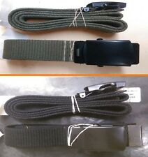Military Web Belt Black & OD with Black Buckle