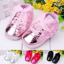 Toddle Infant Baby Girl Lace Soft Sole Crib Shoes Canvas Sneaker Prewalker 0-18M