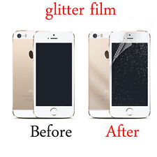 Front/Back Silver Glitter Screen Protectors Film Cover For iPhone5 6S 7Plus SE