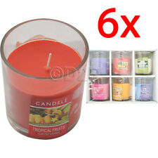 6 X 8CM SCENTED WAX CANDLES IN GLASS JAR AROMA FRAGRANCE HOME CANDLE GIFT SET