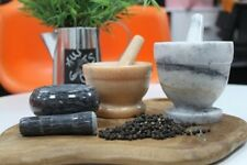 Marble Mortar And Pestle Grinding,Crushing and Mixing Herbs and Spices