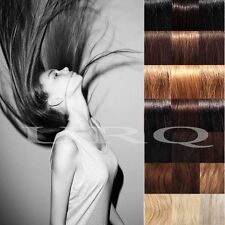 """Clip In 100% Remy Human Hair Extensions Full Head Long Straight 16"""" 18"""" 20"""" V569"""