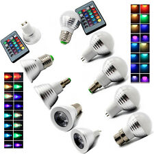 MR16 E14 E27 GU10 RGB LED Light Bulb Lamp 3W Globe Spot Bulb 16 Color Changing