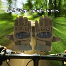 Hard Knuckle Full Finger Tactical Gloves Sport Shooting Cycling Hunting New K4O9