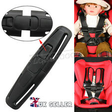 2x Baby Black Car Safety Seat Strap Child Toddler Chest Harness Clip Safe Buckle