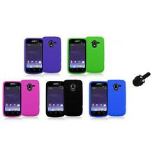 Color Silicone Rubber Gel Soft Skin Case Cover+Mini Stylus for ZTE Avid 4G N9120