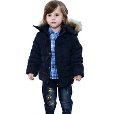 Toddler Baby Girl Boy Warm Hooded Coat Jacket Kid Snowsuit Outwear Clothes