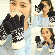 Unisex Winter Warm Gloves Full Finger Knitted Touch Screen Wrist Gloves Gifts