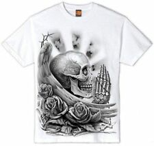 OG Abel Prayskull Mens Tshirt White Skull Wings Angel Pray Tattoo