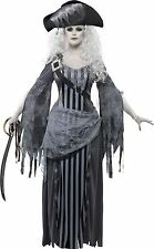 Smiffys Ghost Ship Princess Womens Fancy Dress Costume Halloween Pirate Grey