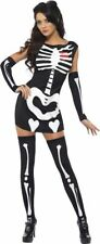 Smiffys Fever Sexy Skeleton Womens Costume Fancy Dress Halloween