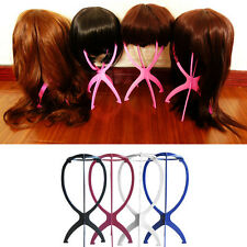 Home Travel Foldable Plastic Stable Wig Hair Hat Cap Stand Case Display Holder