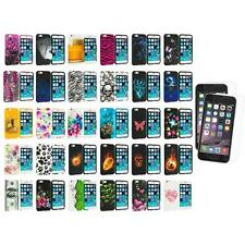 For Apple iPhone 6 (4.7) TPU Design Case Cover+2X Clear Screen Protector