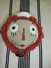 "PRIMITIVE PUNCH NEEDLE ""RAGGEDY ANDY""  PIN CUSHION or MAKE DO SHELF SITTER"