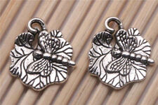 Lots 150 PCS Tibetan silver Crafts Lotus Leaf Dragonfly Making Charms Pendants
