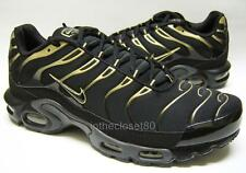 Nike Air Max Plus Tn Tuned 1 Black Metallic Gold Mens Trainers 852630 004